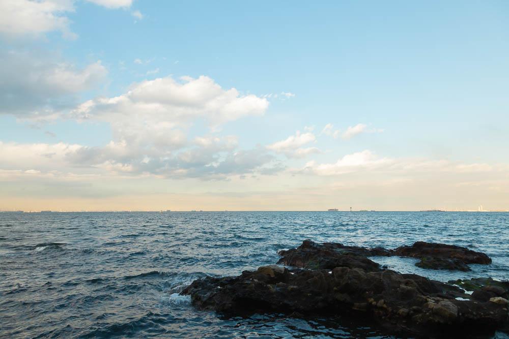 猿島の海と岩礁